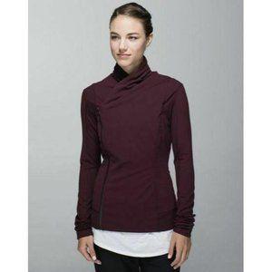 LULULEMON Bhakti Yoga Jacket size 8  Brodeaux Dram
